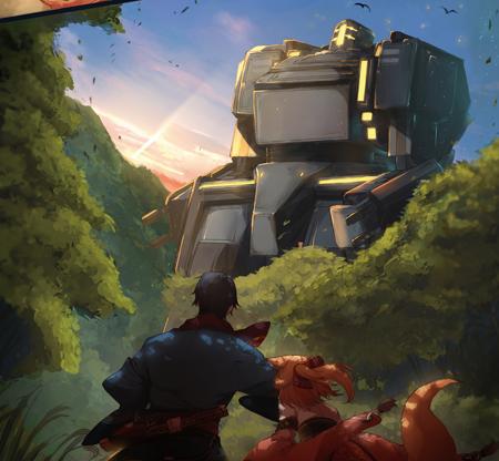▲こちらが帝国の巨大人型鋼鉄機兵・マイスアタッカーです…でかい!
