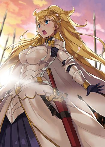 白銀の鎧に身を包んだ女騎士も登場!!